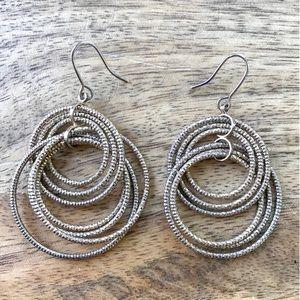 Jewelry - Gold bronze multi hoop statement earrings